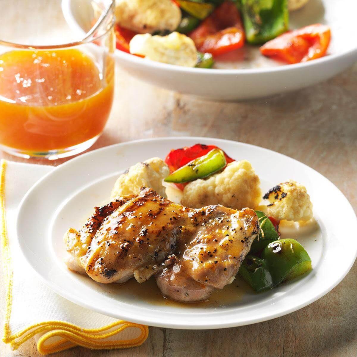 Grilled Orange Chicken Thighs Recipe