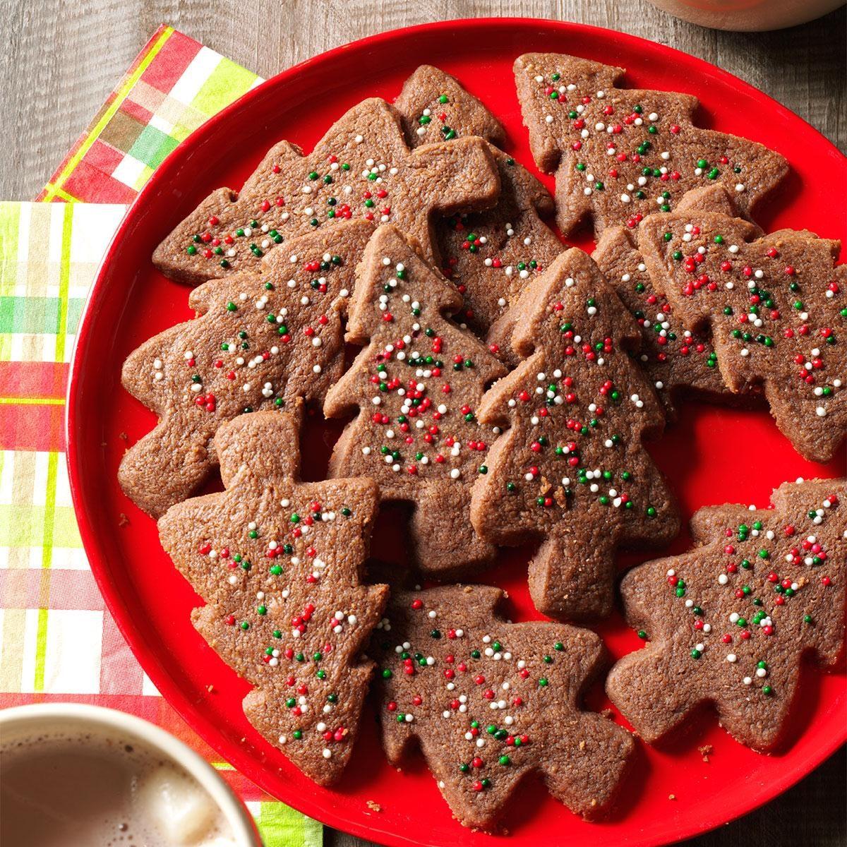 Chocolate Shortbread Trees Recipe