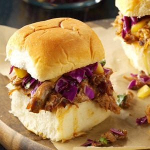 Caribbean Chipotle Pork Sliders
