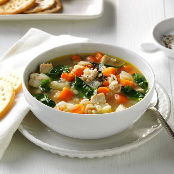 Day 5 Lunch: Turkey and Vegetable Barley Soup