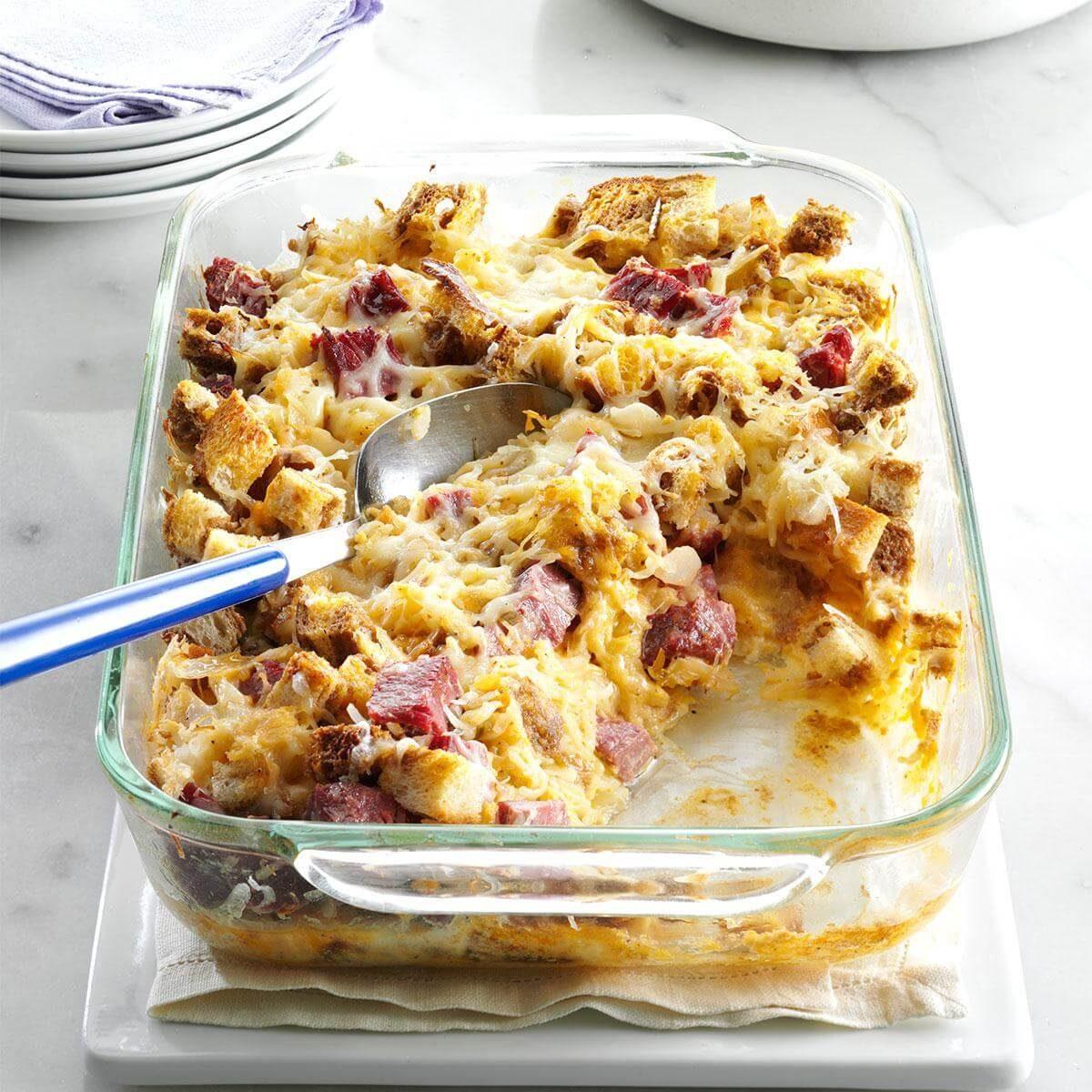 Reuben Bread Pudding