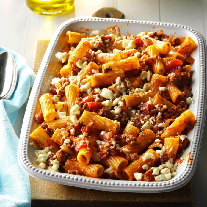 Colorado: Greek Pasta Bake