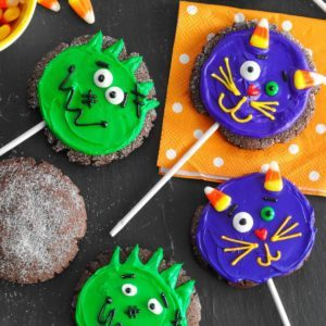 Halloween Chocolate Cookie Pops