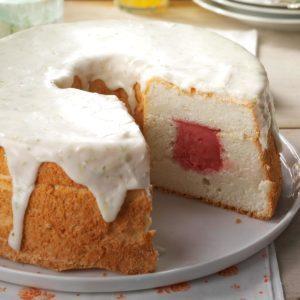 Sherbet-Filled Angel Food Cake
