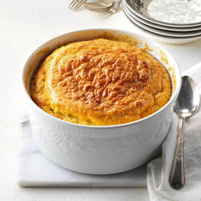 Corn & Onion Souffle