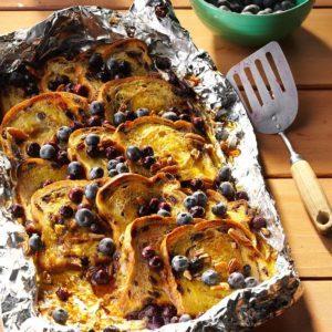 Blueberry Cinnamon Campfire Bread