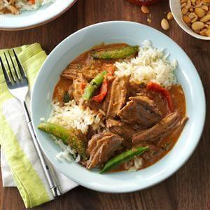 Pressure Cooker Thai Coconut Beef