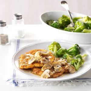 Garlic-Mushroom Turkey Slices