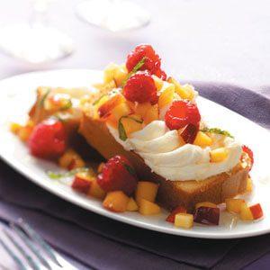 Dessert Bruschetta with Nectarine Salsa