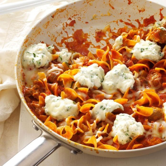 Diabetic dinner recipes taste of home favorite skillet lasagna forumfinder Images