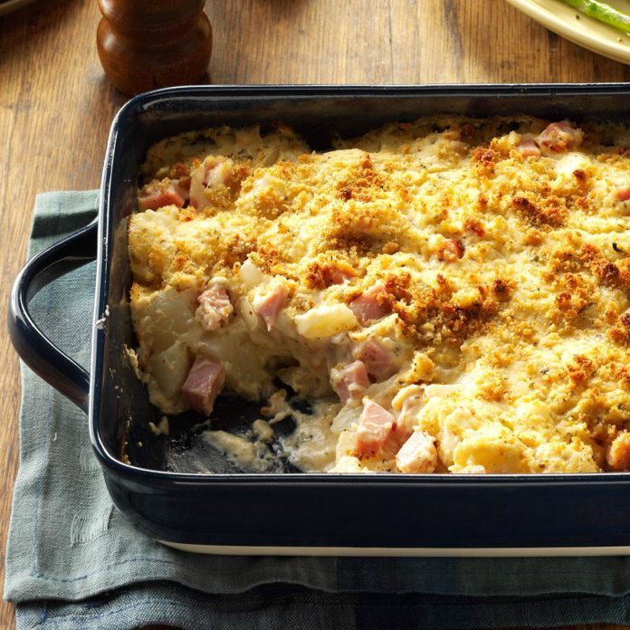 Ham & Swiss Potato Casserole