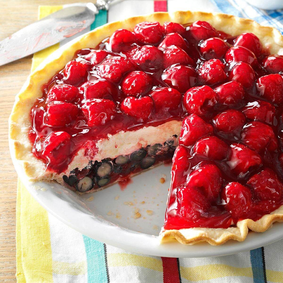 Red, White And Blue Berry Pie Recipe