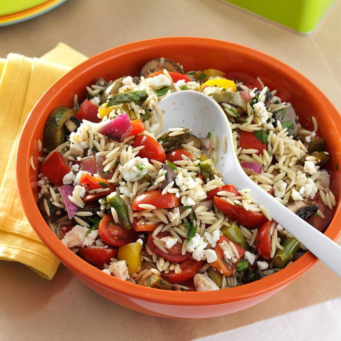 Indiana: Grilled Vegetable Orzo Salad
