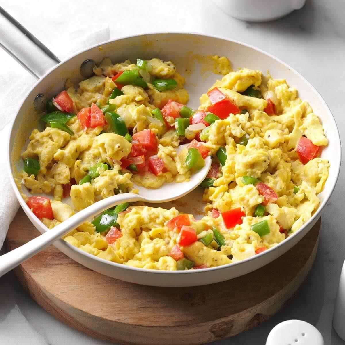 Calico Scrambled Eggs Recipe | Taste of Home