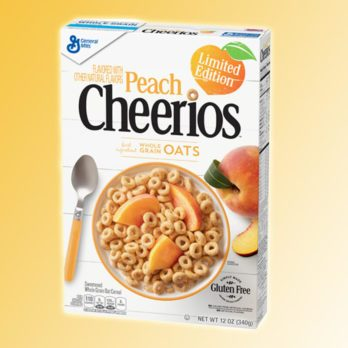 Peach Cheerios Have Hit the Shelves and We're Ecstatic