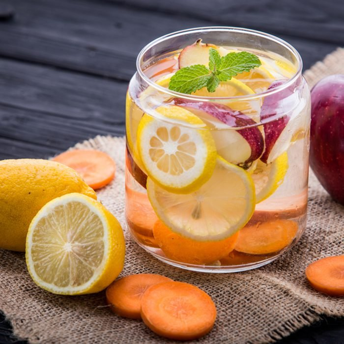 fruit, infused, water