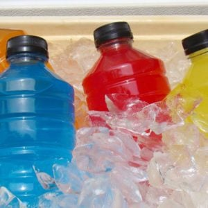 Sports Energy Drinks On Ice