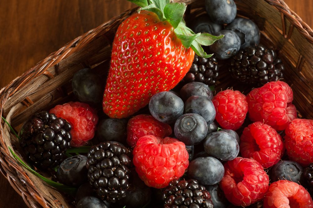Mix of soft fruit that are good for keto diet