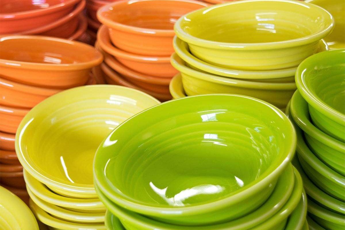 Yellow Green And Orange Fiestaware Bowls