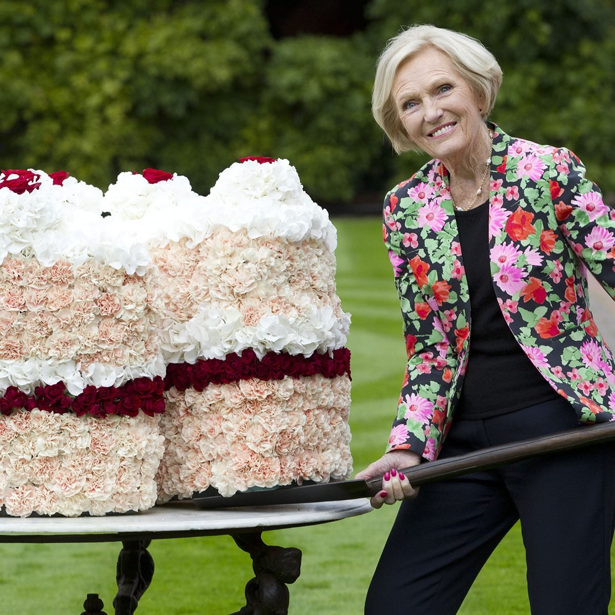 Mandatory Credit: Photo by REX/Shutterstock (5052775f) Mary Berry Mary Berry Opens The Wisley Flower Show at RHS Garden Wisley Surrey, Britain - 08 Sep 2015