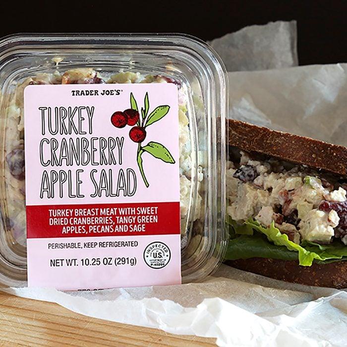 Trader Joe's turkey cranberry salad sandwich.