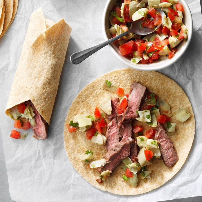 Artichoke Steak Wraps