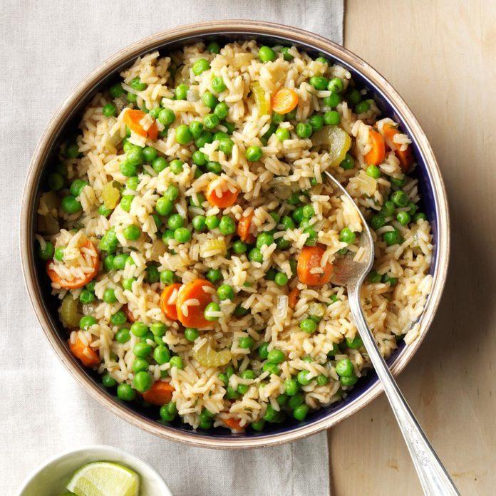 asian rice pilaf recipe taste of home