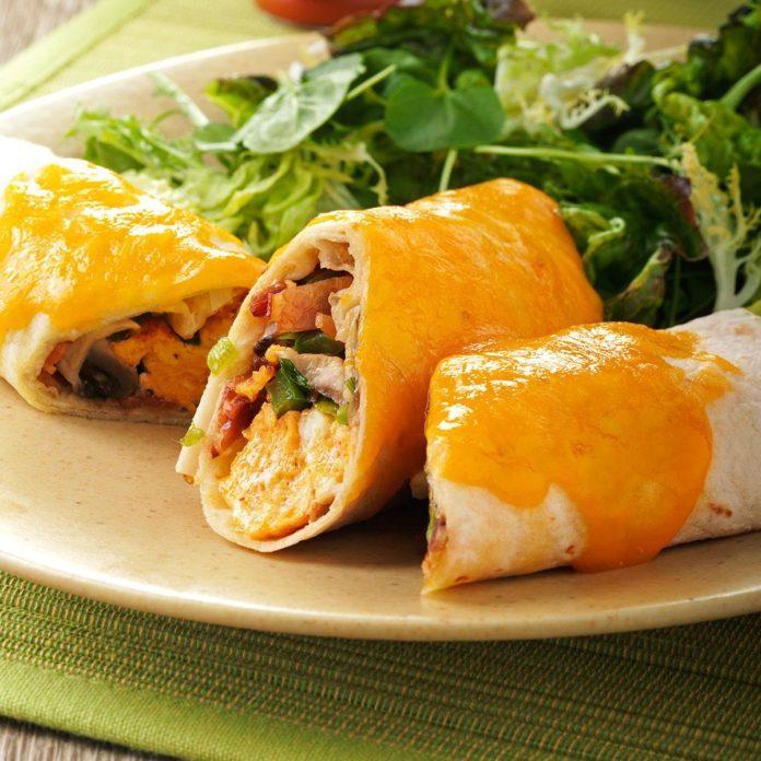 Baked Breakfast Burritos