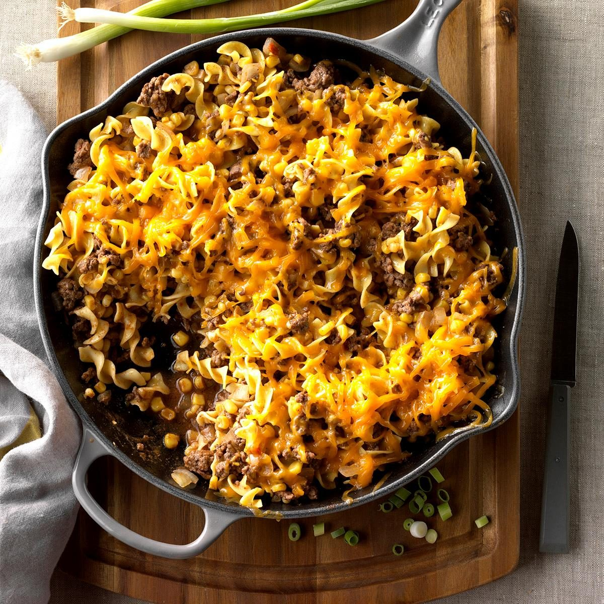Meal Ideas For Ground Beef: Beef Skillet Supper Recipe