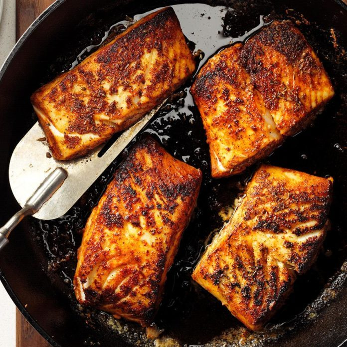 Blackened Halibut