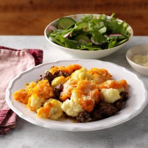Butternut Squash, Cauliflower & Beef Shepherd's Pie