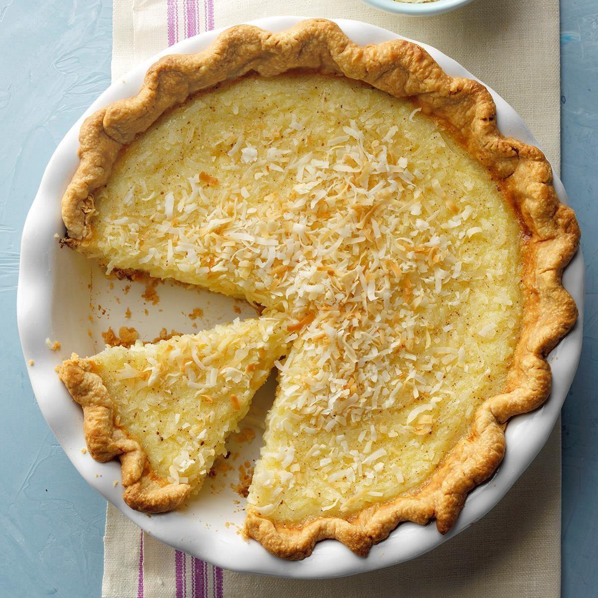 Coconut Custard Pie Recipe Test Kitchen