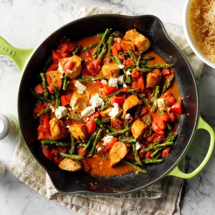 Chicken Goat Cheese Skillet