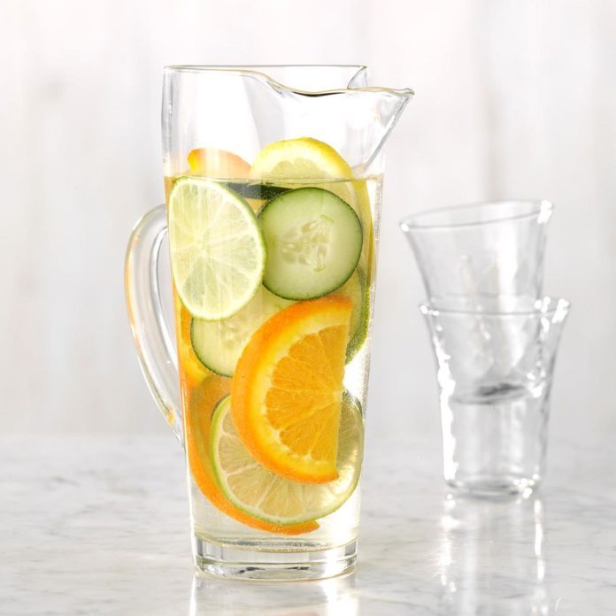 Citrus And Cuber Infused Water