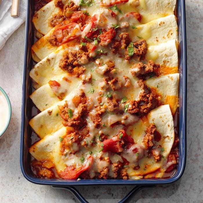 Fold-Over Tortilla Bake