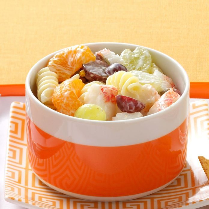 Fruity Crab Pasta Salad