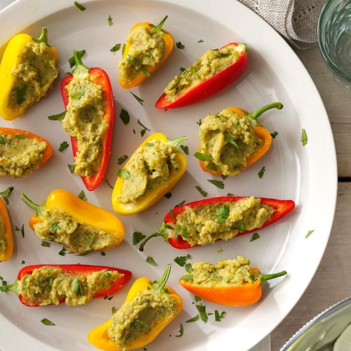Non-Dairy Garbanzo-Stuffed Mini Peppers
