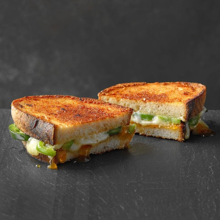 Grilled Cheese, Apricot and Jalapeno Sandwich