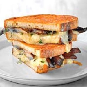 Grilled Cheese and Mushroom Sandwich