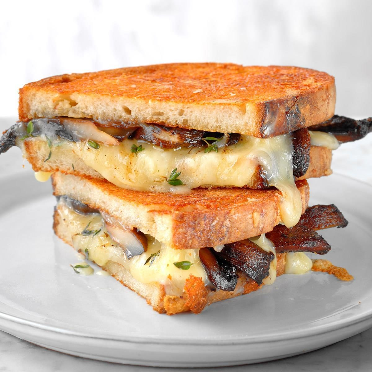 Grilled Cheese And Mushroom Sandwich Recipe