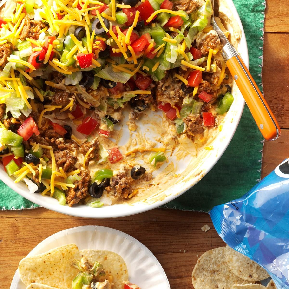 Easy Ground Beef Taco Salad Recipe: Ground Beef Taco Dip Recipe