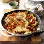One-Skillet Pork Chop Supper