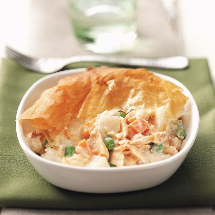 Pastry-Topped Salmon Casserole