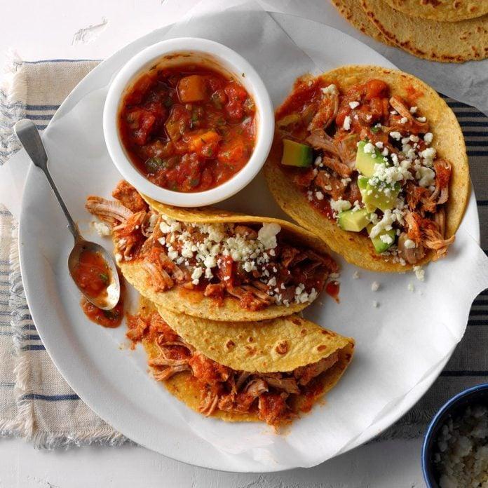 Pork Tacos With Mango Salsa Recipe Taste Of Home
