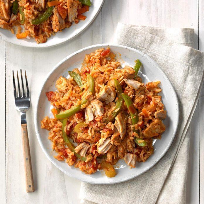 Pressure-Cooker Cajun Pork and Rice