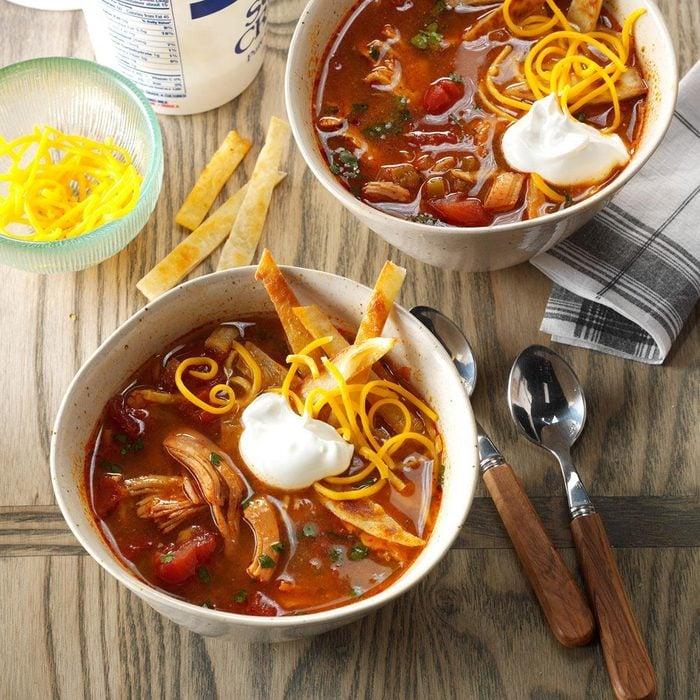 Pressure Cooker Chicken Enchilada Soup