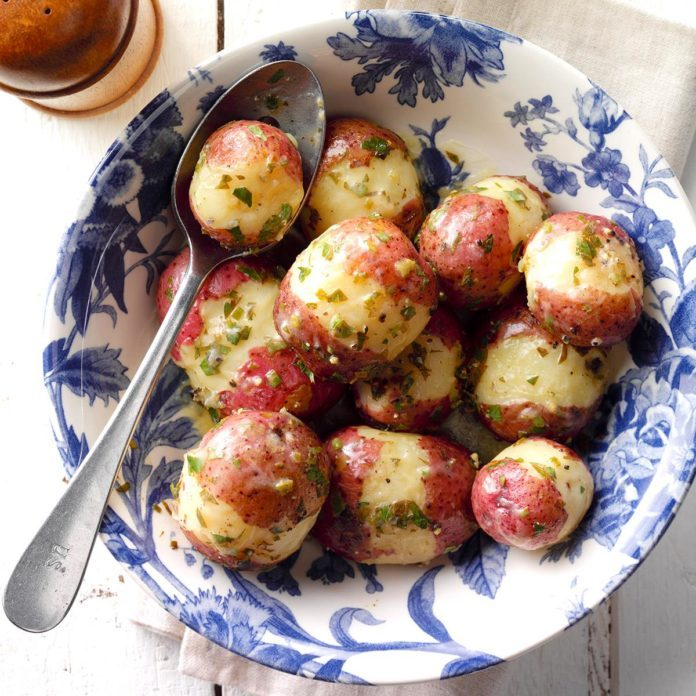 Pressure Cooker Lemon Red Potatoes