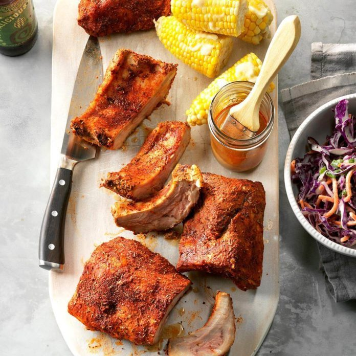 Day 30: Pressure Cooker Memphis-Style Ribs