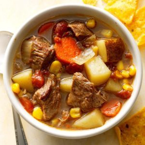 Pressure Cooker Mexican Beef Soup