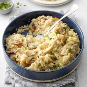 Pressure-Cooker Risotto with Chicken and Mushrooms